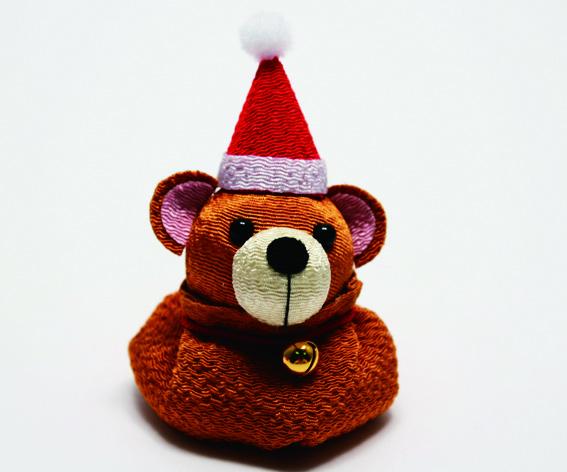 ちりめんクリスマスベア