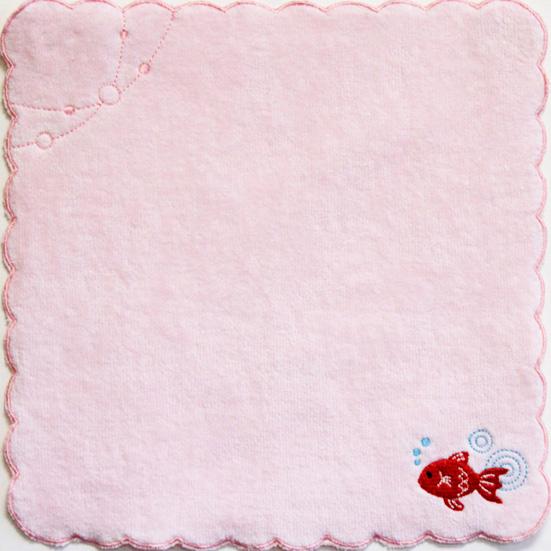 ふわわミニタオル 金魚ピンク