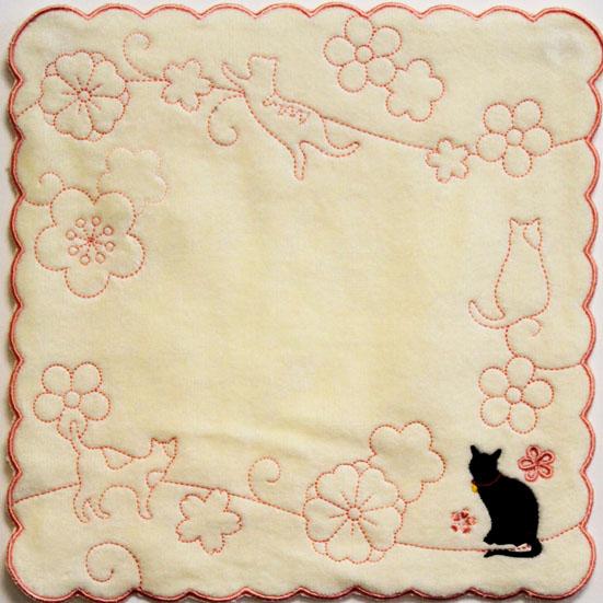 ふわわミニタオル 猫クリーム