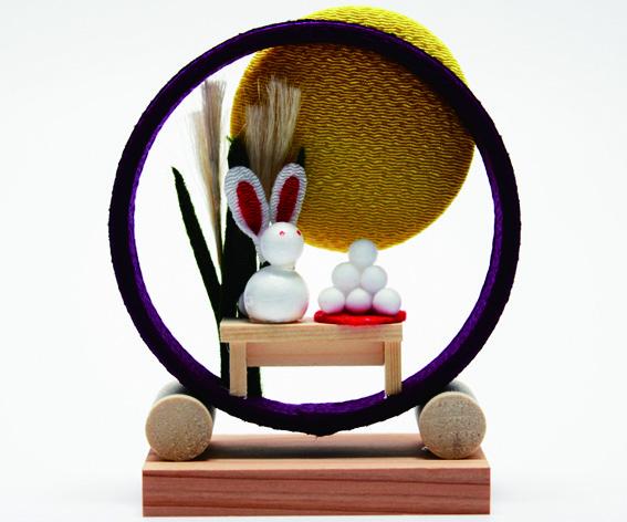 季節の輪飾り お月見