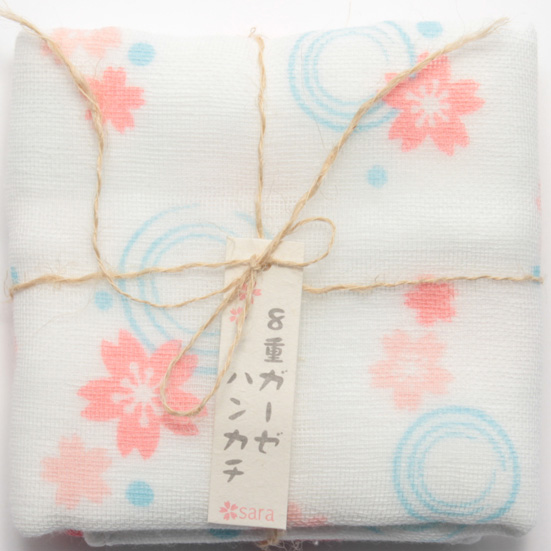 晒八重ガーゼ 桜波紋
